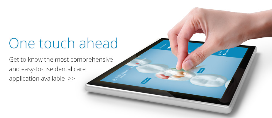 One touch ahead – Get to know the most comprehensive and easy-to-use dental care application available.